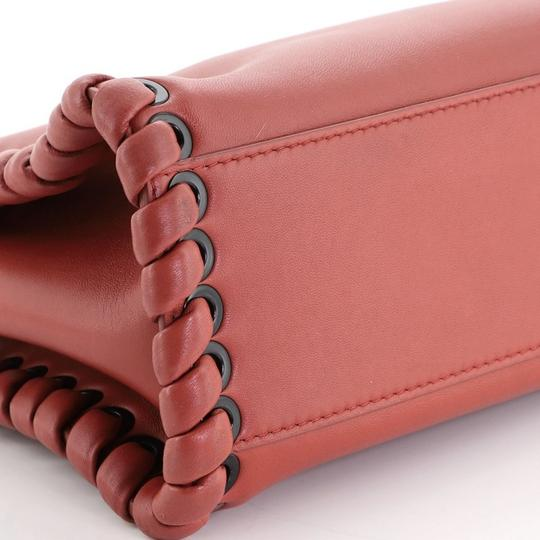 Fendi Leather Satchel in Red Image 4