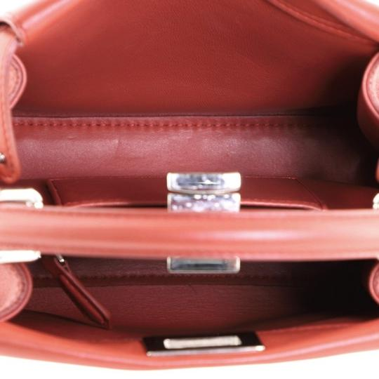Fendi Leather Satchel in Red Image 5