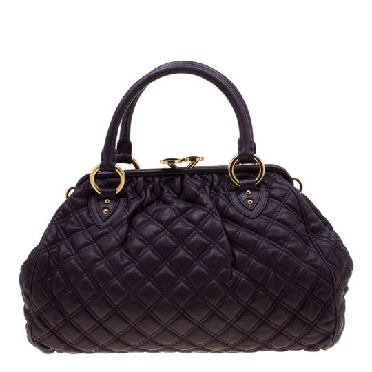 Marc Jacobs Leather Quilted Satchel in Purple Image 1