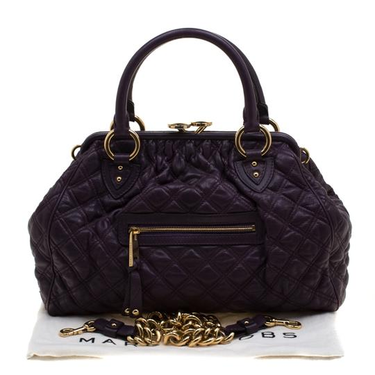 Marc Jacobs Leather Quilted Satchel in Purple Image 10