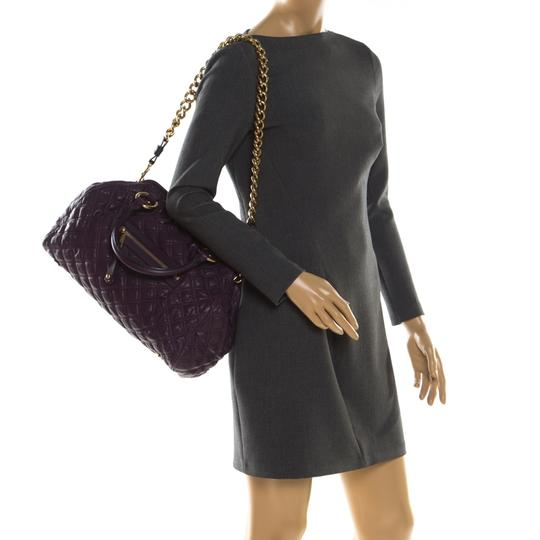 Marc Jacobs Leather Quilted Satchel in Purple Image 2