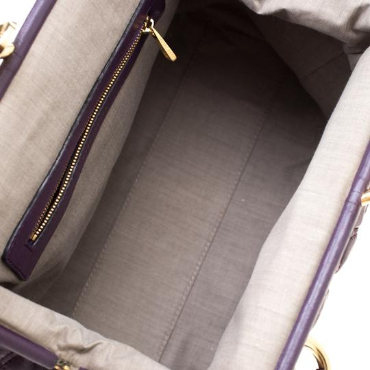 Marc Jacobs Leather Quilted Satchel in Purple Image 4