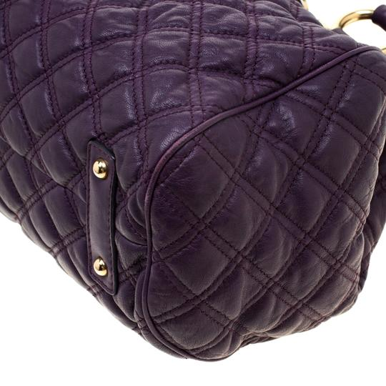 Marc Jacobs Leather Quilted Satchel in Purple Image 5