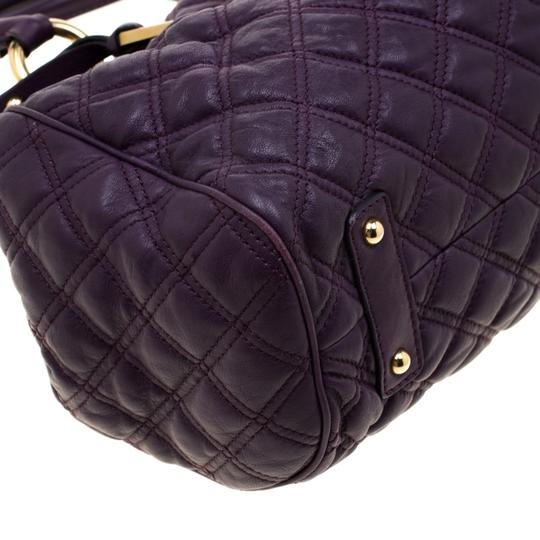 Marc Jacobs Leather Quilted Satchel in Purple Image 6