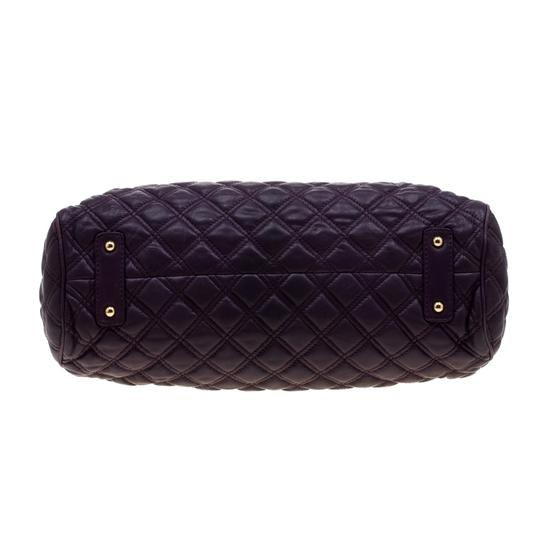 Marc Jacobs Leather Quilted Satchel in Purple Image 7