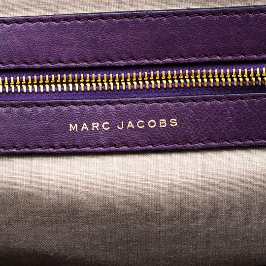 Marc Jacobs Leather Quilted Satchel in Purple Image 8