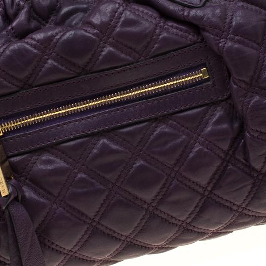 Marc Jacobs Leather Quilted Satchel in Purple Image 9