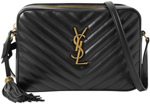 Saint Laurent Ysl Leather Monogram Lou Cross Body Bag
