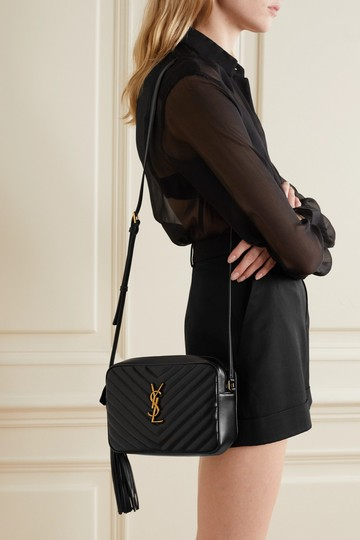 Saint Laurent Ysl Leather Monogram Lou Cross Body Bag Image 2