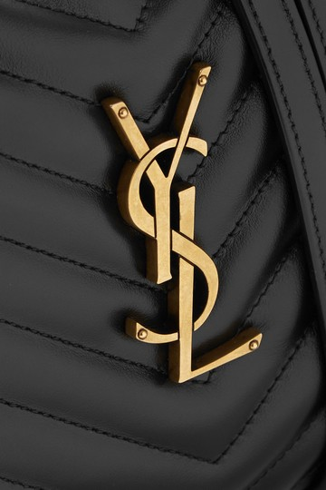 Saint Laurent Ysl Leather Monogram Lou Cross Body Bag Image 3