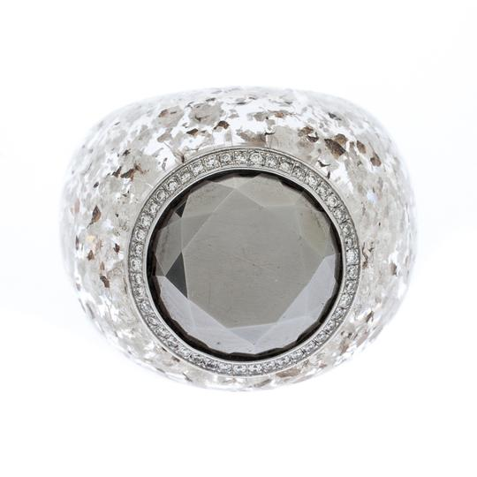 Chopard Golden Diamond Collection Diamond Gold Flecked Resin Ring Size 54.5 Image 1