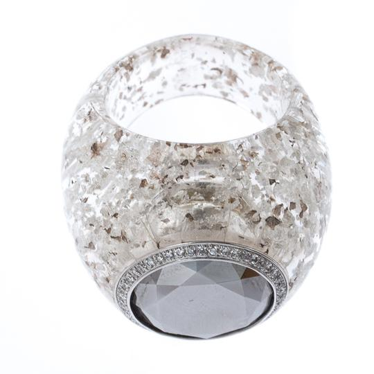 Chopard Golden Diamond Collection Diamond Gold Flecked Resin Ring Size 54.5 Image 2