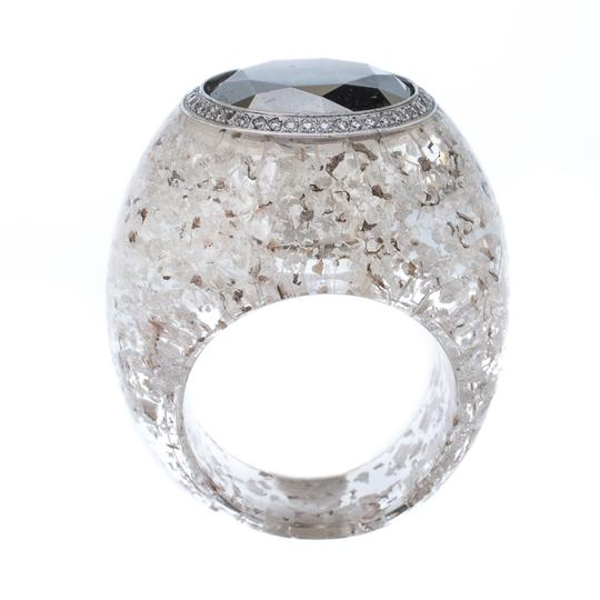 Chopard Golden Diamond Collection Diamond Gold Flecked Resin Ring Size 54.5 Image 3