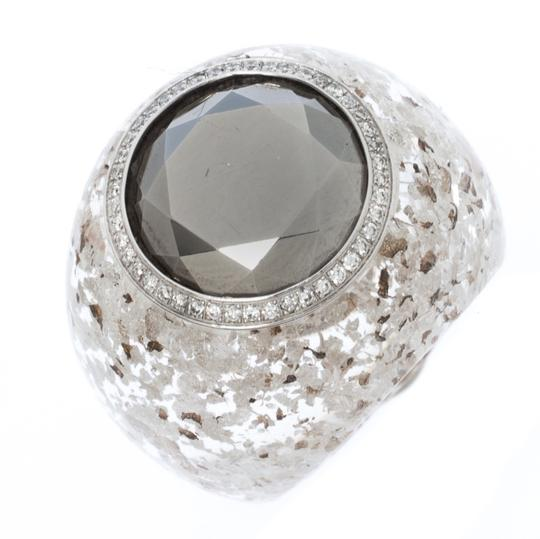 Chopard Golden Diamond Collection Diamond Gold Flecked Resin Ring Size 54.5 Image 4
