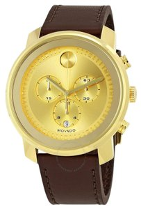 Movado MOVADO Men's Bold Gold Dial Chronograph Watch 3600409