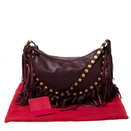 Valentino Leather Suede Hobo Bag Image 11