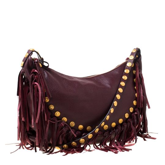 Valentino Leather Suede Hobo Bag Image 3