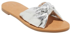 A New Day Flat Sole Slide Silver Sandals