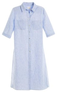 Chico's Linen Long Chambray Tunic