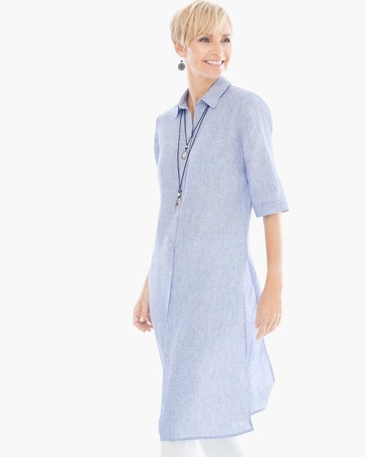 Chico's Linen Long Chambray Tunic Image 1