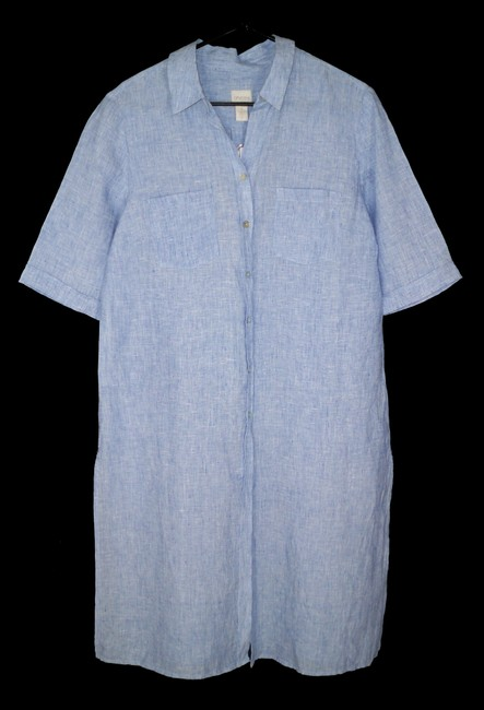 Chico's Linen Long Chambray Tunic Image 2