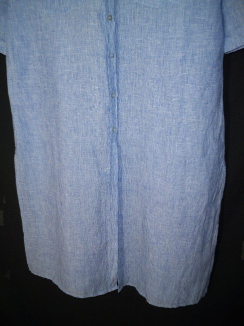 Chico's Linen Long Chambray Tunic Image 3