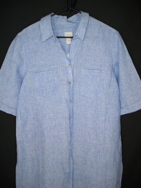 Chico's Linen Long Chambray Tunic Image 4