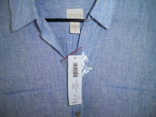 Chico's Linen Long Chambray Tunic Image 5