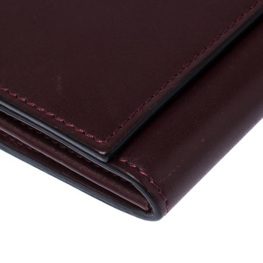 Valentino Burgundy Leather Flap Continental Wallet Image 4
