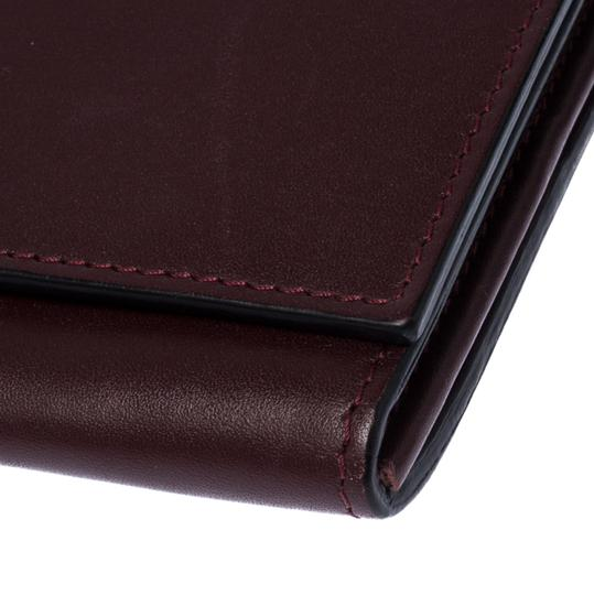 Valentino Burgundy Leather Flap Continental Wallet Image 5