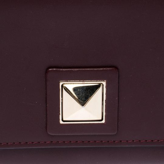 Valentino Burgundy Leather Flap Continental Wallet Image 7