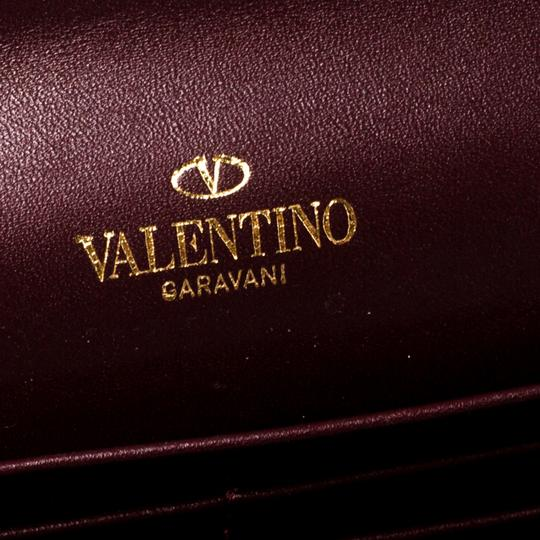 Valentino Burgundy Leather Flap Continental Wallet Image 8