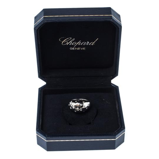 Chopard Happy Diamond Heart 18k White Dome Ring Size 55 Image 6