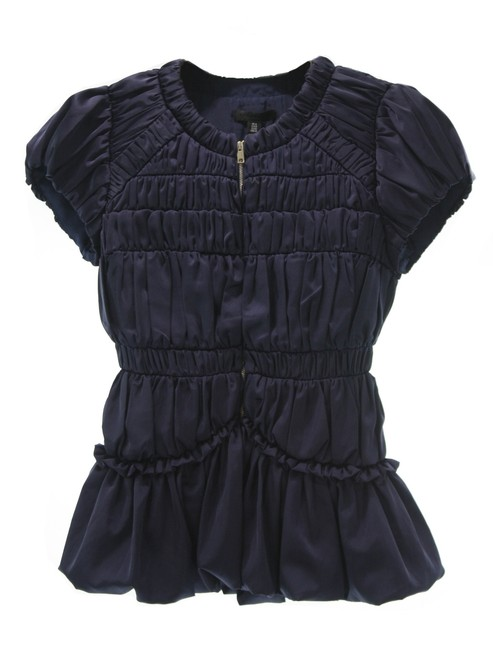 Preload https://img-static.tradesy.com/item/26872523/burberry-navy-london-blue-rouched-blouse-size-4-s-0-0-650-650.jpg