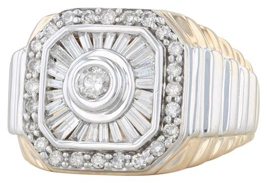 Preload https://img-static.tradesy.com/item/26872530/yellow-and-white-gold-men-s-110ctw-diamond-14k-size-105-rayed-halo-ring-0-1-540-540.jpg
