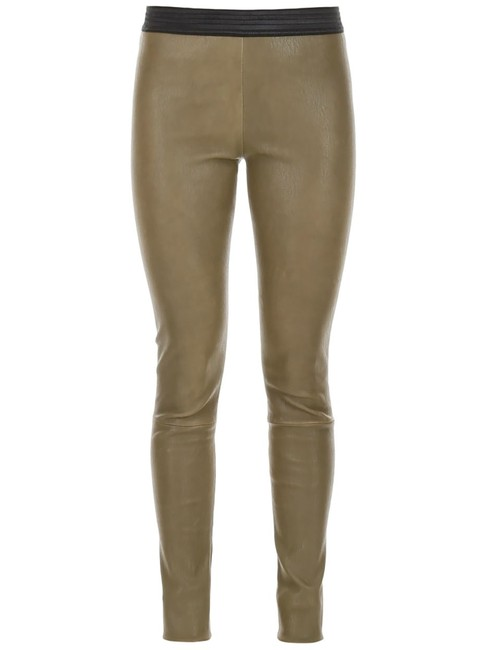 Preload https://img-static.tradesy.com/item/26872534/green-leather-stretch-pants-small-leggings-size-4-s-27-0-0-650-650.jpg