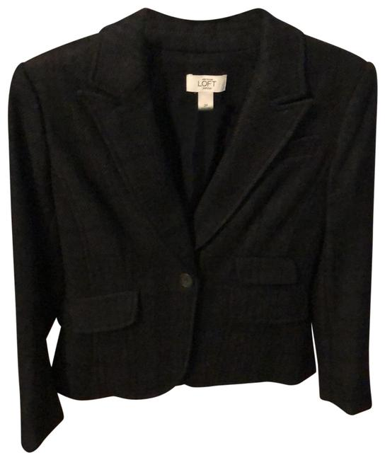 Preload https://img-static.tradesy.com/item/26872537/ann-taylor-loft-black-and-charcoal-wool-blend-blazer-size-petite-2-xs-0-1-650-650.jpg