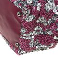 Valentino Leather Sequin Embellished Tote in Burgundy Image 6