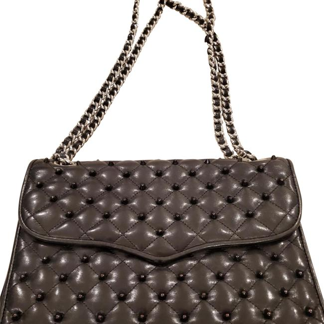 Item - Affair Black with Silver Hardware Leather Cross Body Bag