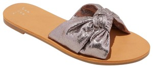 A New Day Flat Sole Slide Pewter Sandals