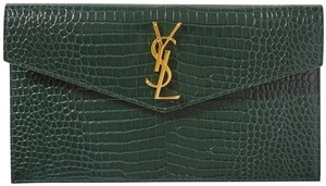 Saint Laurent green Clutch