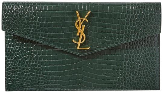 Preload https://img-static.tradesy.com/item/26872581/saint-laurent-new-ysl-envelope-pouch-new-green-leather-clutch-0-1-540-540.jpg