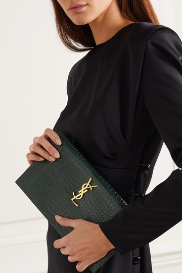 Saint Laurent green Clutch Image 10