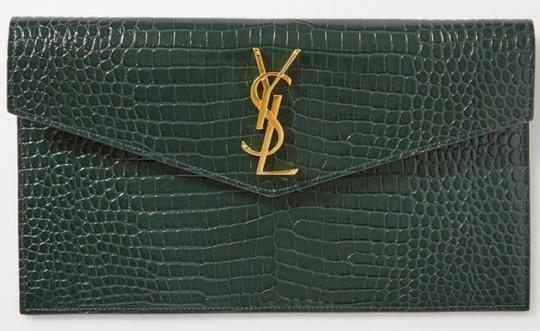 Saint Laurent green Clutch Image 11