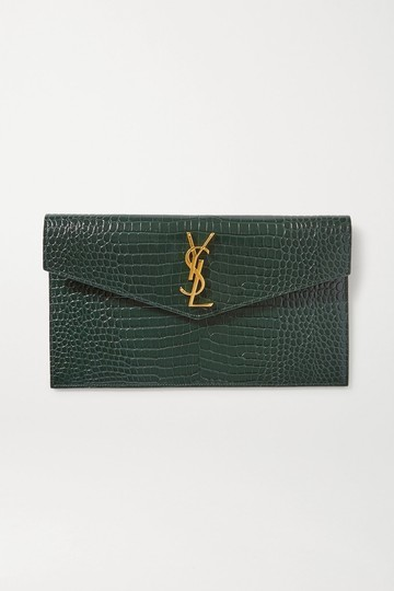 Saint Laurent green Clutch Image 7