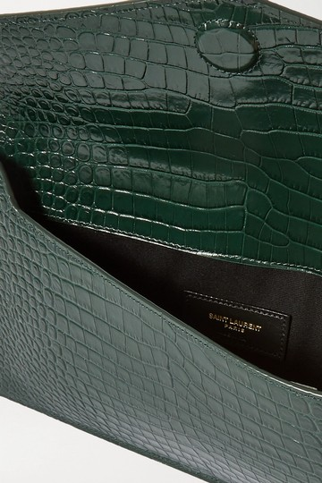 Saint Laurent green Clutch Image 8