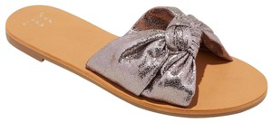 A New Day Slide Flat Sole Pewter Sandals