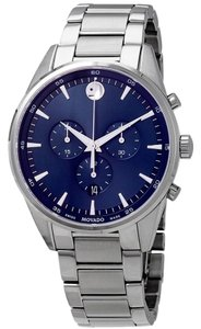Movado MOVADO Men's Stratus Chronograph Quartz Blue Dial Men's Watch 0607248