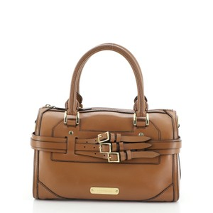 Burberry Bowling Leather Shoulder Bag