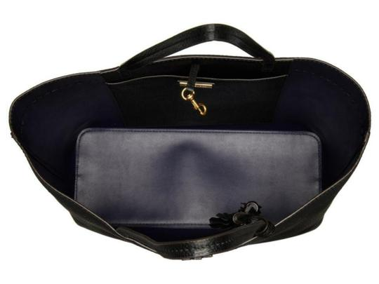 Tory Burch Gucci Saint Laurent Leather Tote in Black Image 9